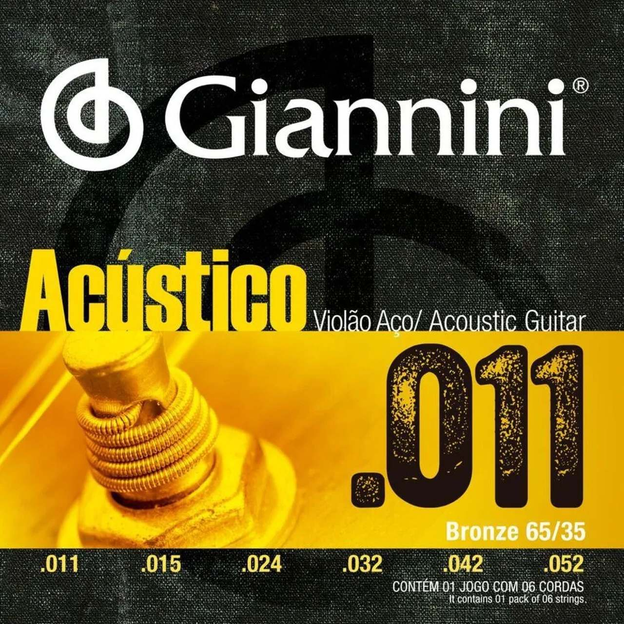 Encordoamento Violão Aço Giannini 011 Bronze GESPW