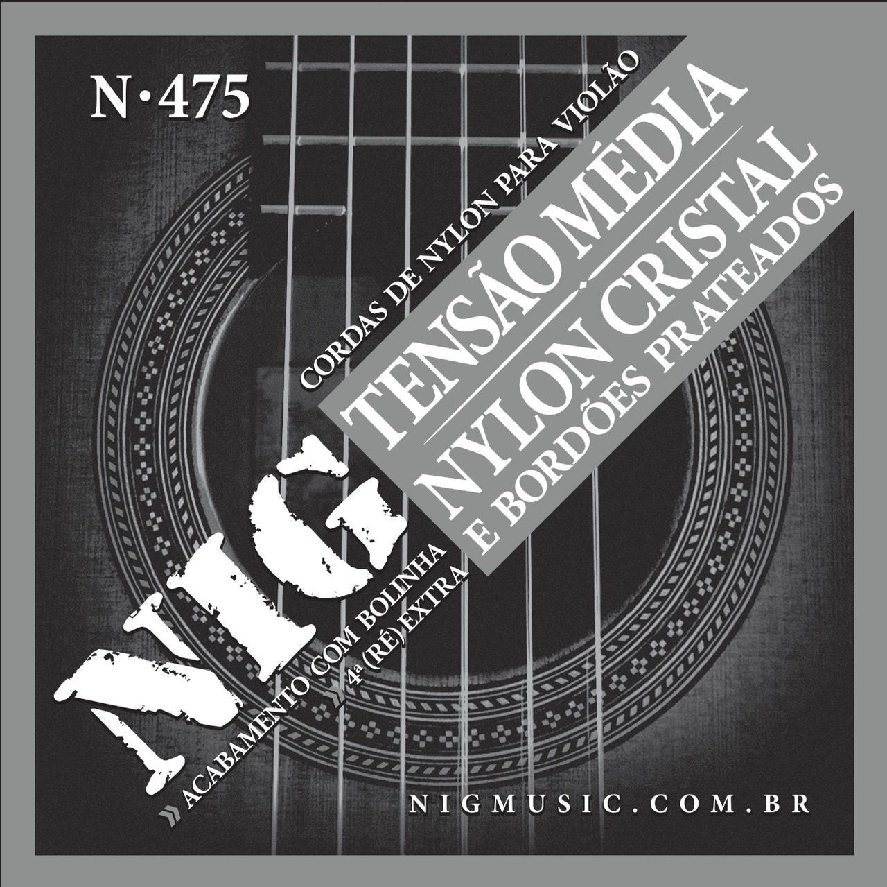 Encordoamento Violão Nylon Nig Tensão Média