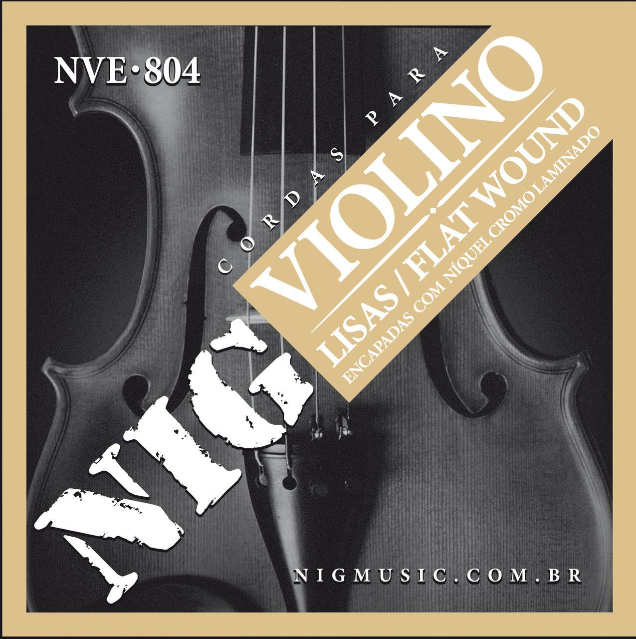 Encordoamento Violino Nig Lisa Flat Wound