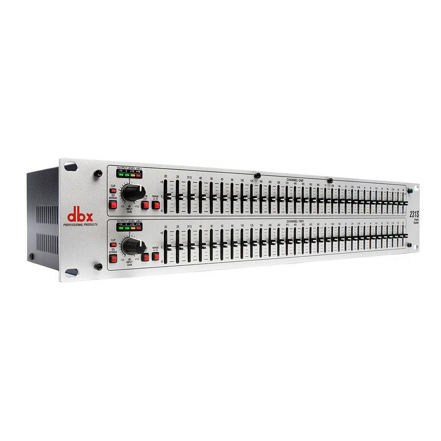 Equalizador DBX 231S  Estéreo 31 Bandas 2 Canais Bivolt