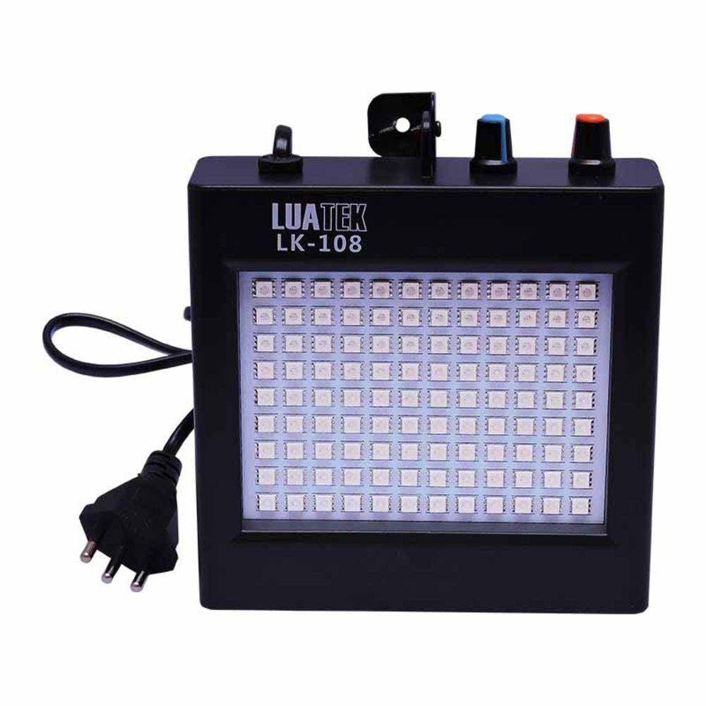 Estrobo LED 12W Luatek LK108 Branco