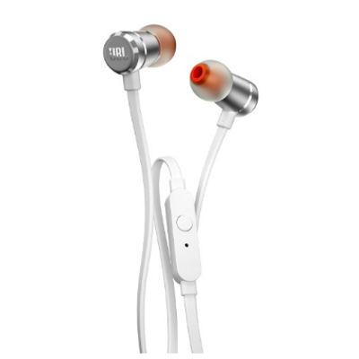 Fone de Ouvido Intra Auricular Com Microfone JBL T290 Branco
