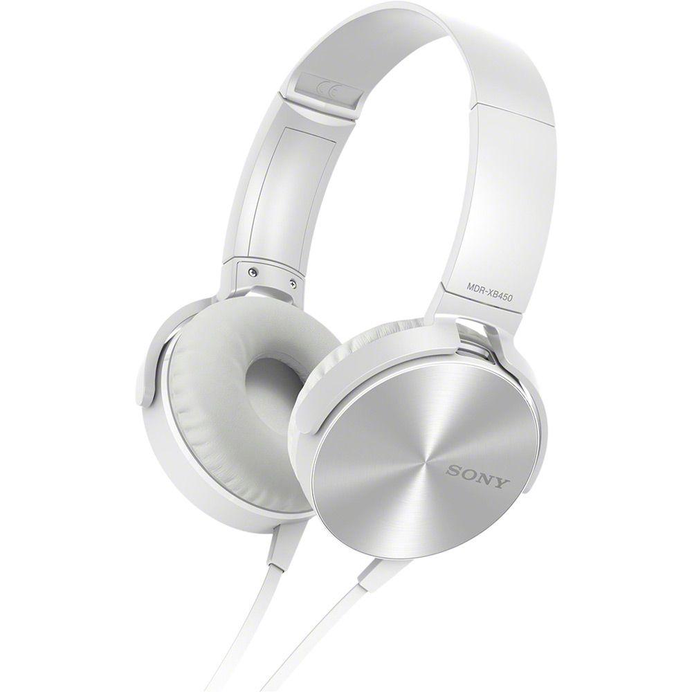 Fone de Ouvido Sony Headphone com Extra Bass MDR XB450AP Branco