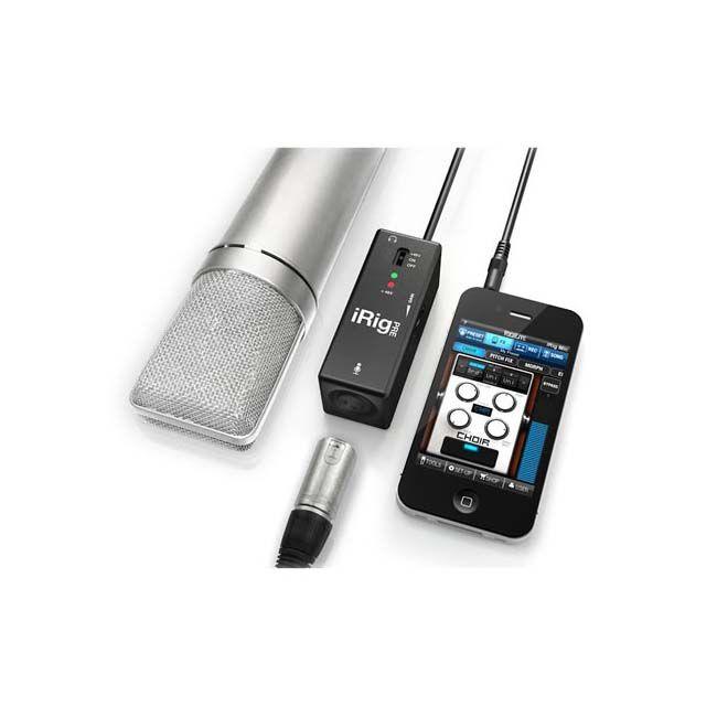 Interface de Áudio Movel para Microfone IK iRig Pré para Smartphone com XLR