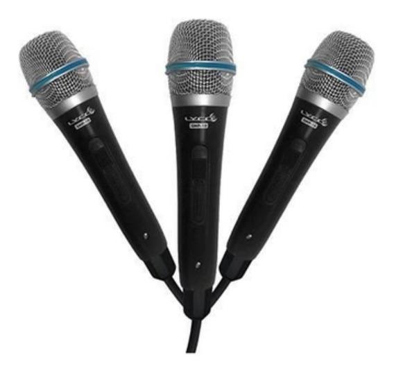 Kit 3 Microfones com Fio Lyco SMP10P3