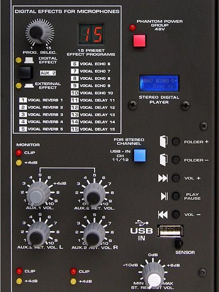 Mesa De Som Ciclotron 12 Canais Com USB AMBW-12 XDF