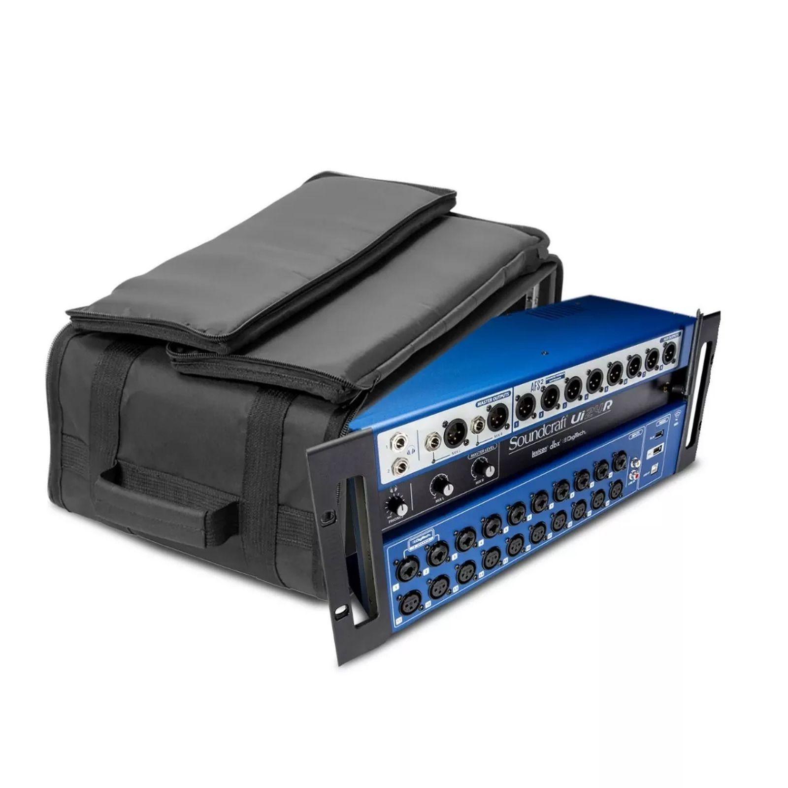 Mesa de Som Digital 24 Canais Soundcraft Ui24R Controle sem Fio