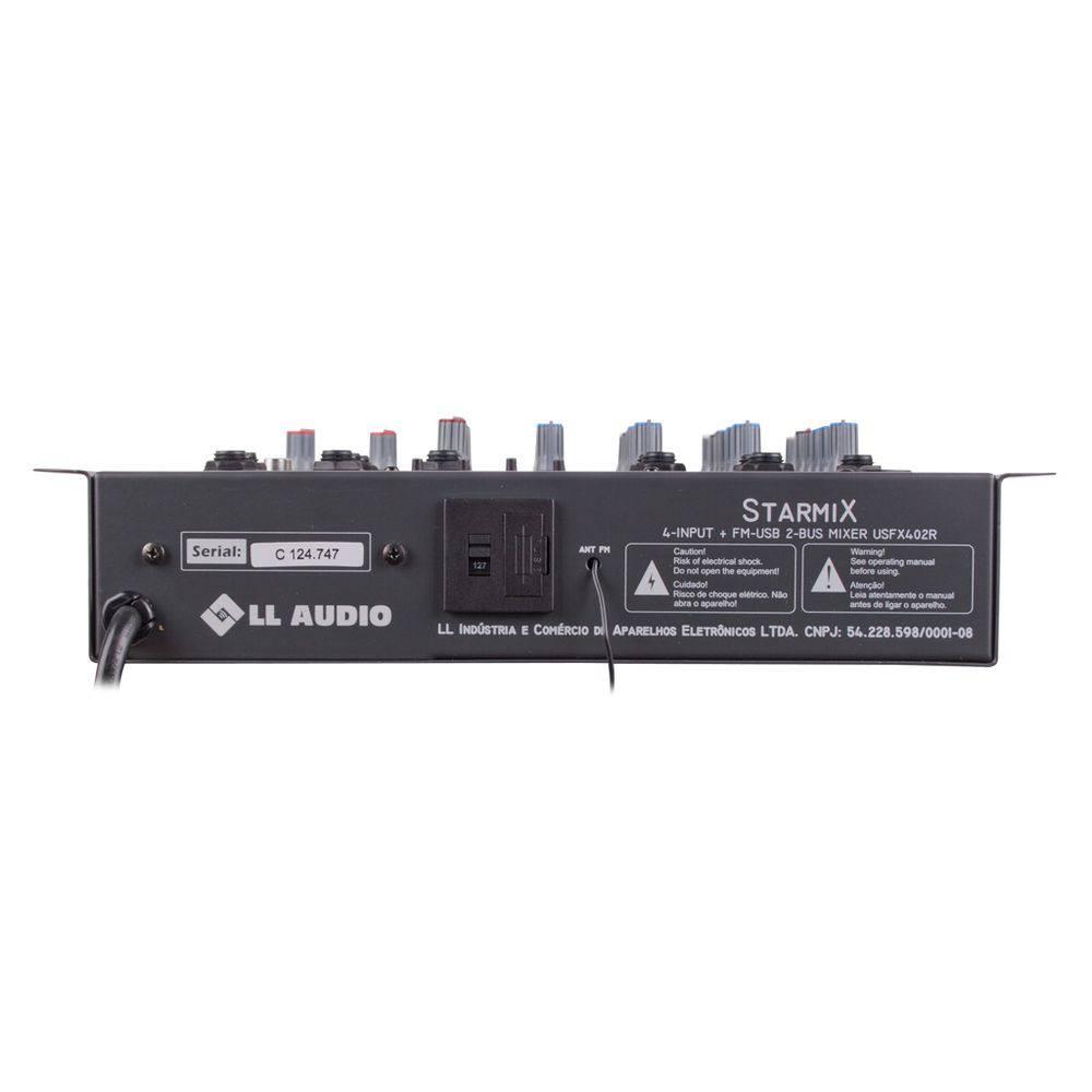 Mesa De Som Mixer LL Starmix Efeito Usfx402 Bt Usb Bluetooth