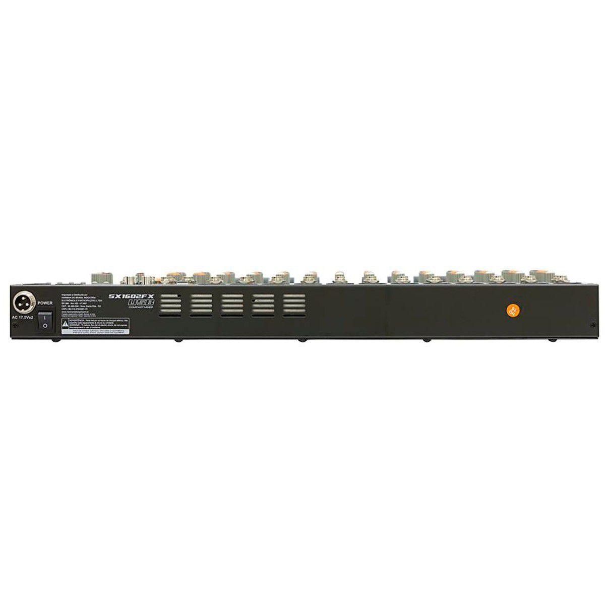 Mesa de Som SoundCraft 16 Canais SX1602FX USB Compact Mixer
