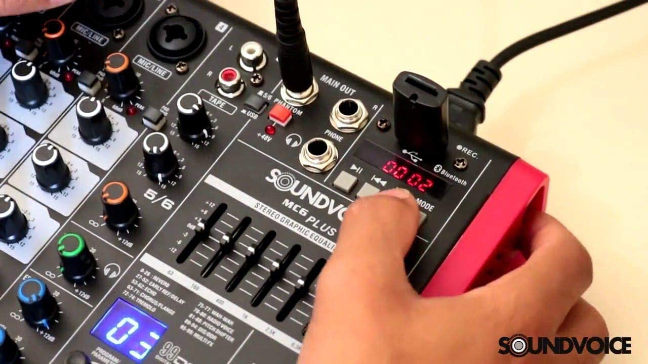 Mesa de Som Soundvoice MC6PLUS