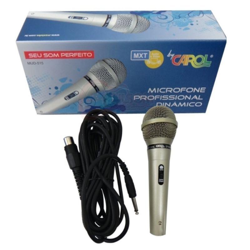 Microfone Carol MUD515 Dinâmico Com fio