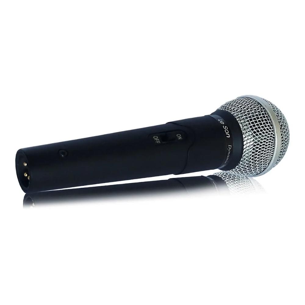 Microfone com Fio Leson LS50 Dinâmico com Cabo 5M