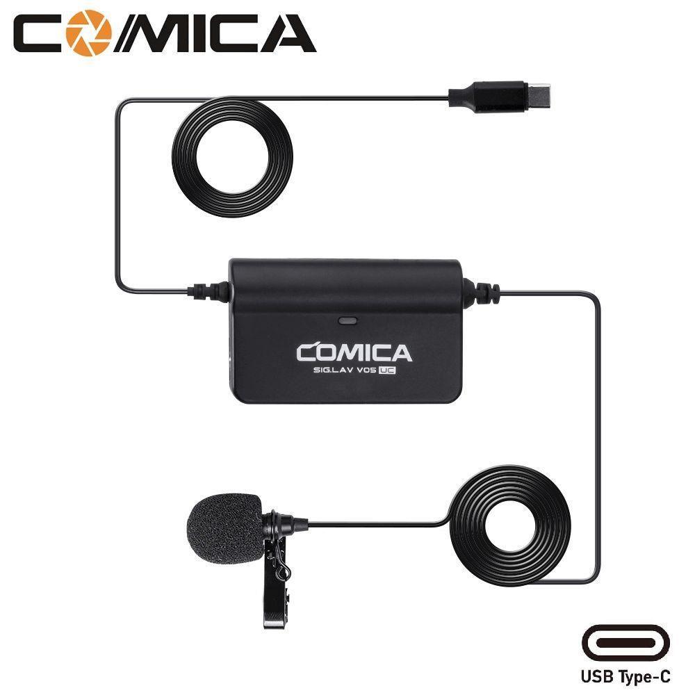 Microfone de Lapela Comica Sig.Lav V05 UC Omnidirectional para SmartPhones Android (USB Type-C)