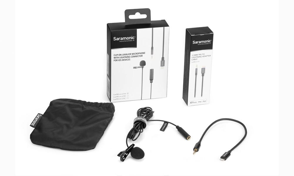 Microfone de Lapela Saramonic LavMicro U1A com Conector Lightning para Iphone