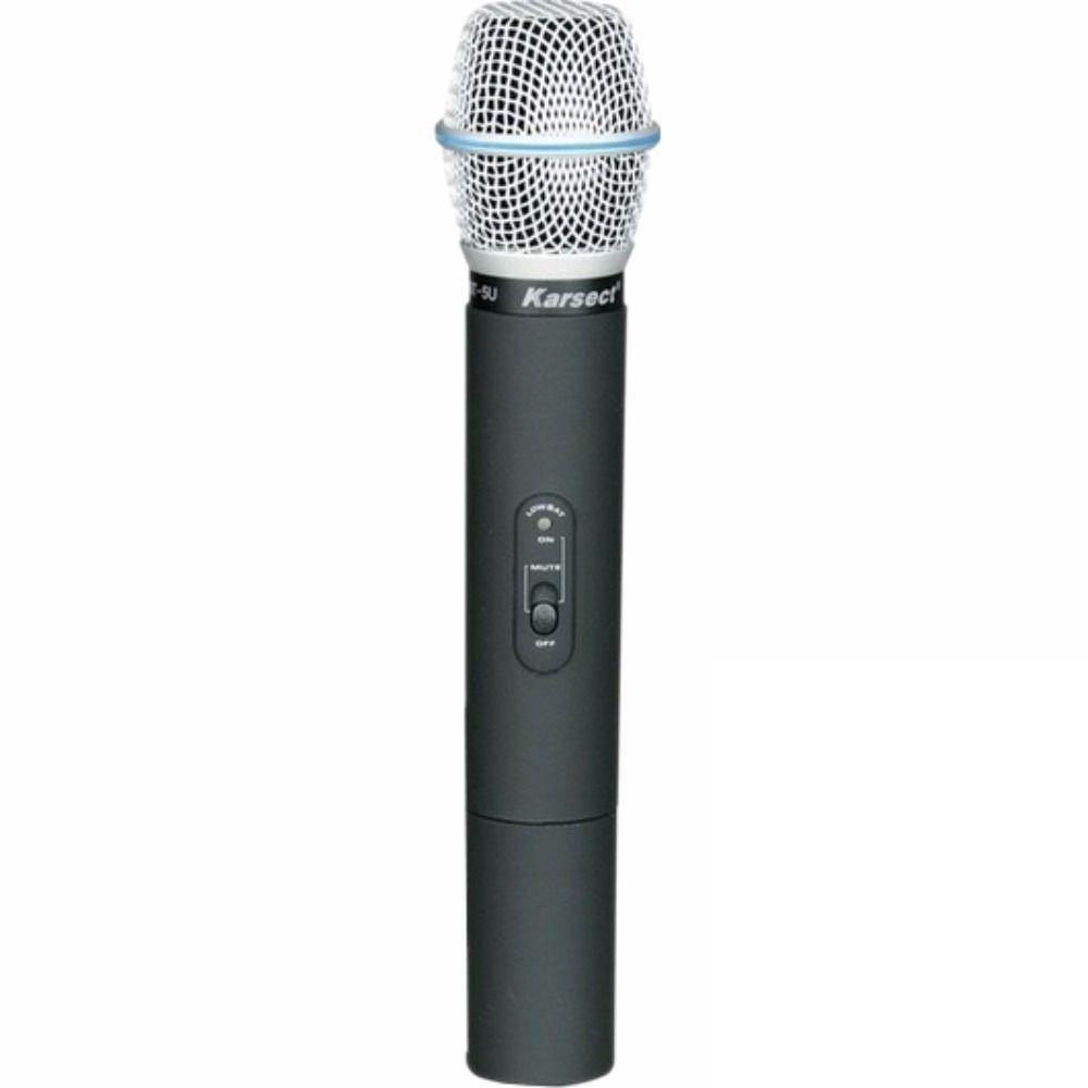 Microfone de Mão sem Fio Karsect KRU-301 UHF