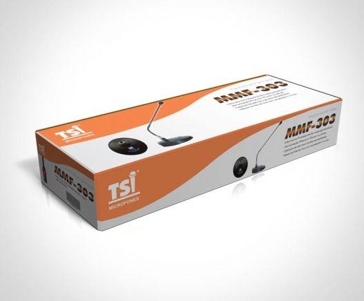 Microfone Gooseneck Com Base TSI MMF-303