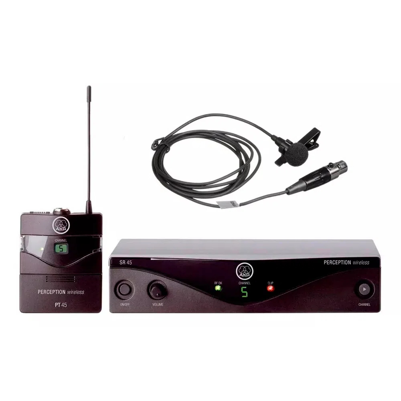Microfone sem Fio AKG Presenter PT45 SR45 Perception Lapela