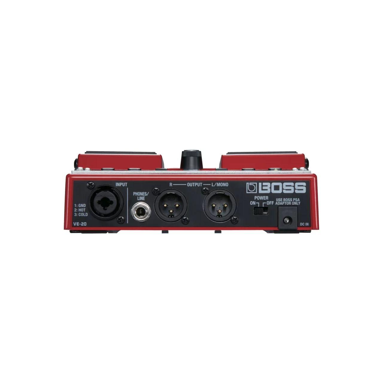 Pedal Boss Processor Reverb VE-20 para Vocal