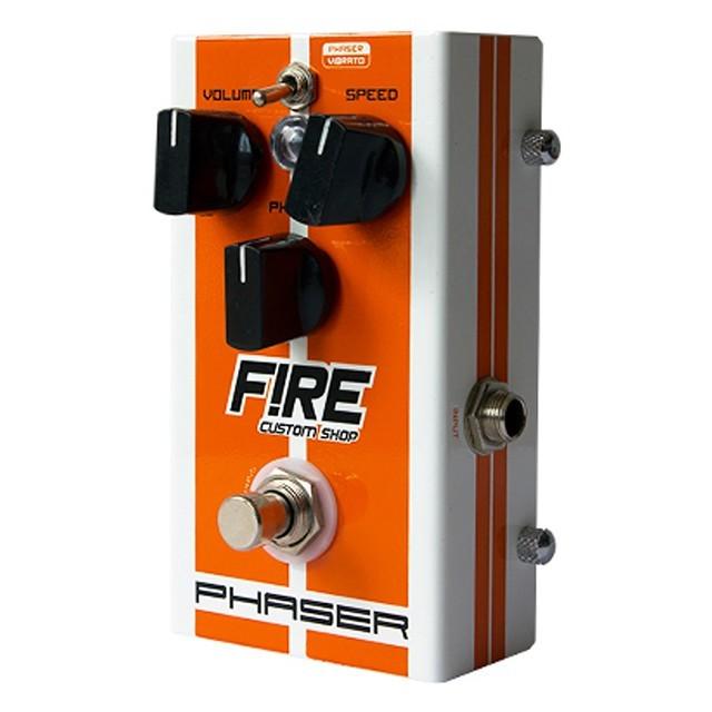 Pedal Fire Custom Shop Phaser e Vibrato para Guitarra e Contra Baixo