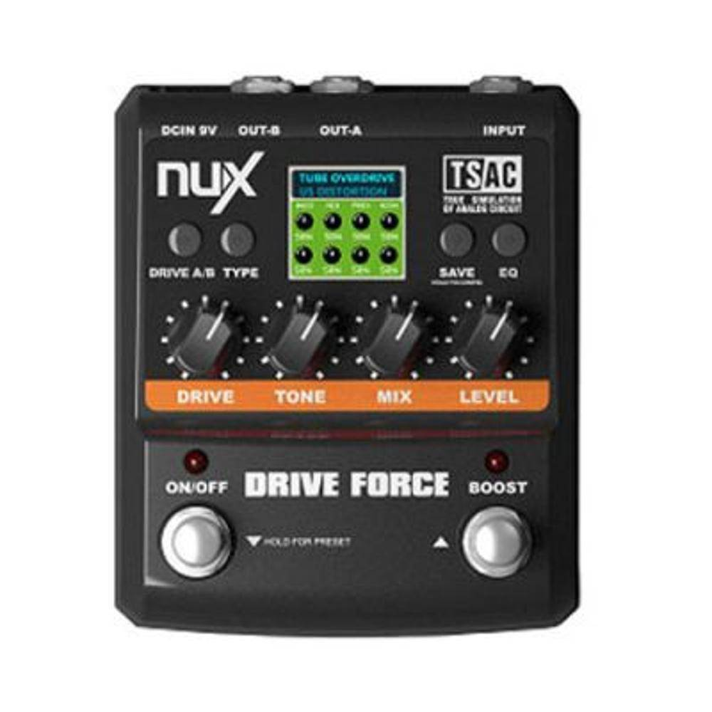 Pedal Nux Drive Force Distorção Overdrive