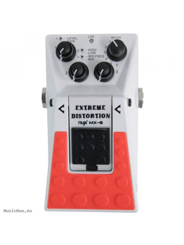 Pedal NUX MX-6 Distortion Extreme para Guitarra