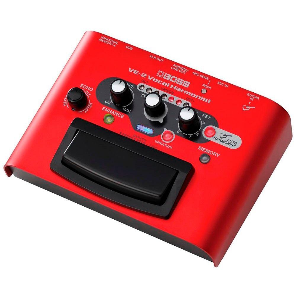 Pedal Processador Voz Boss Ve-2 Vocal Harmonist