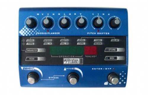Pedal Wave Box Proteus Chorus e Flanger (MIDI) com Fonte