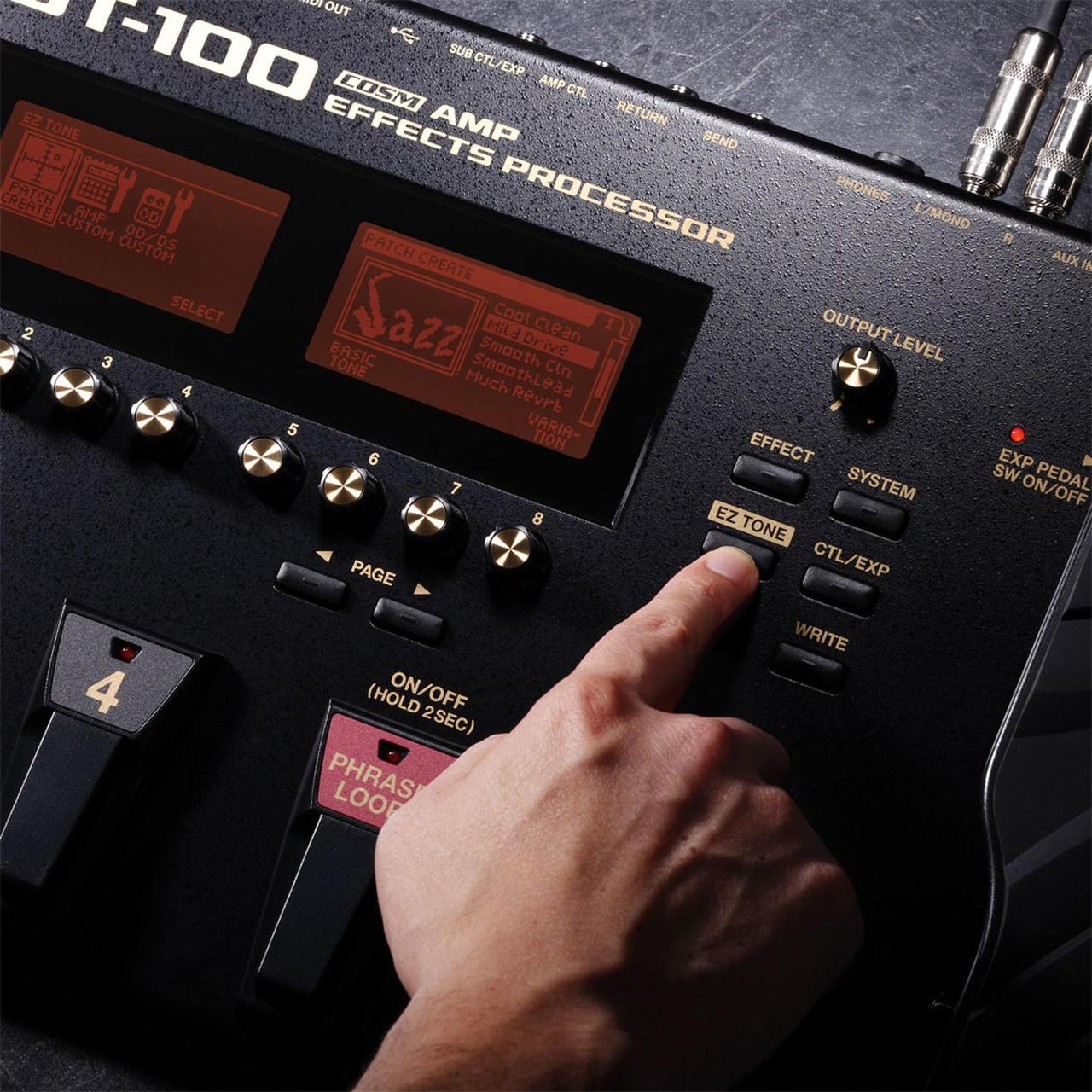 Pedaleira Boss GT 100 com Multi Efeitos para Guitarra com Fonte