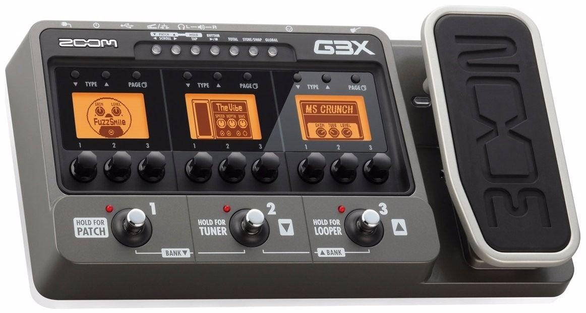 Pedaleira Guitarra Zoom G3X USB Com Fonte
