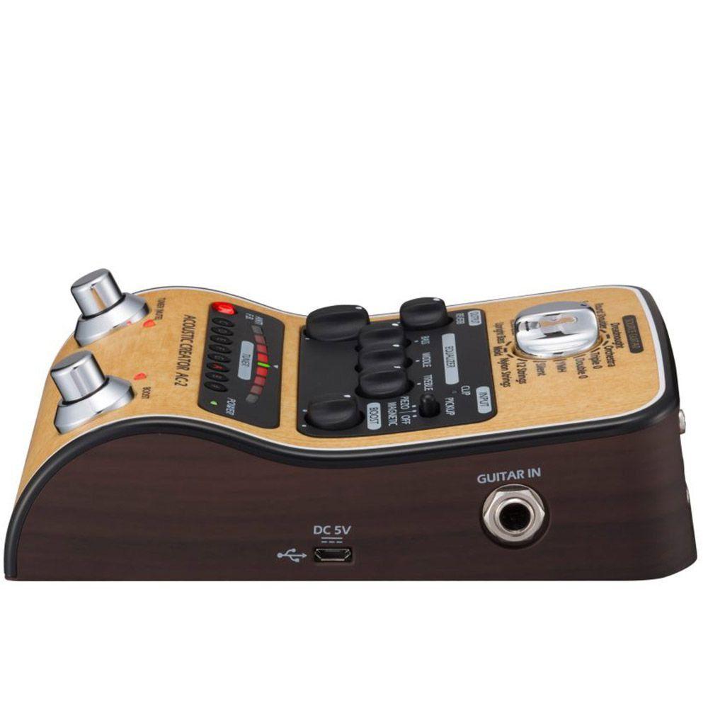 Pedaleira para Violão Zoom AC-2 Acoustic Creator