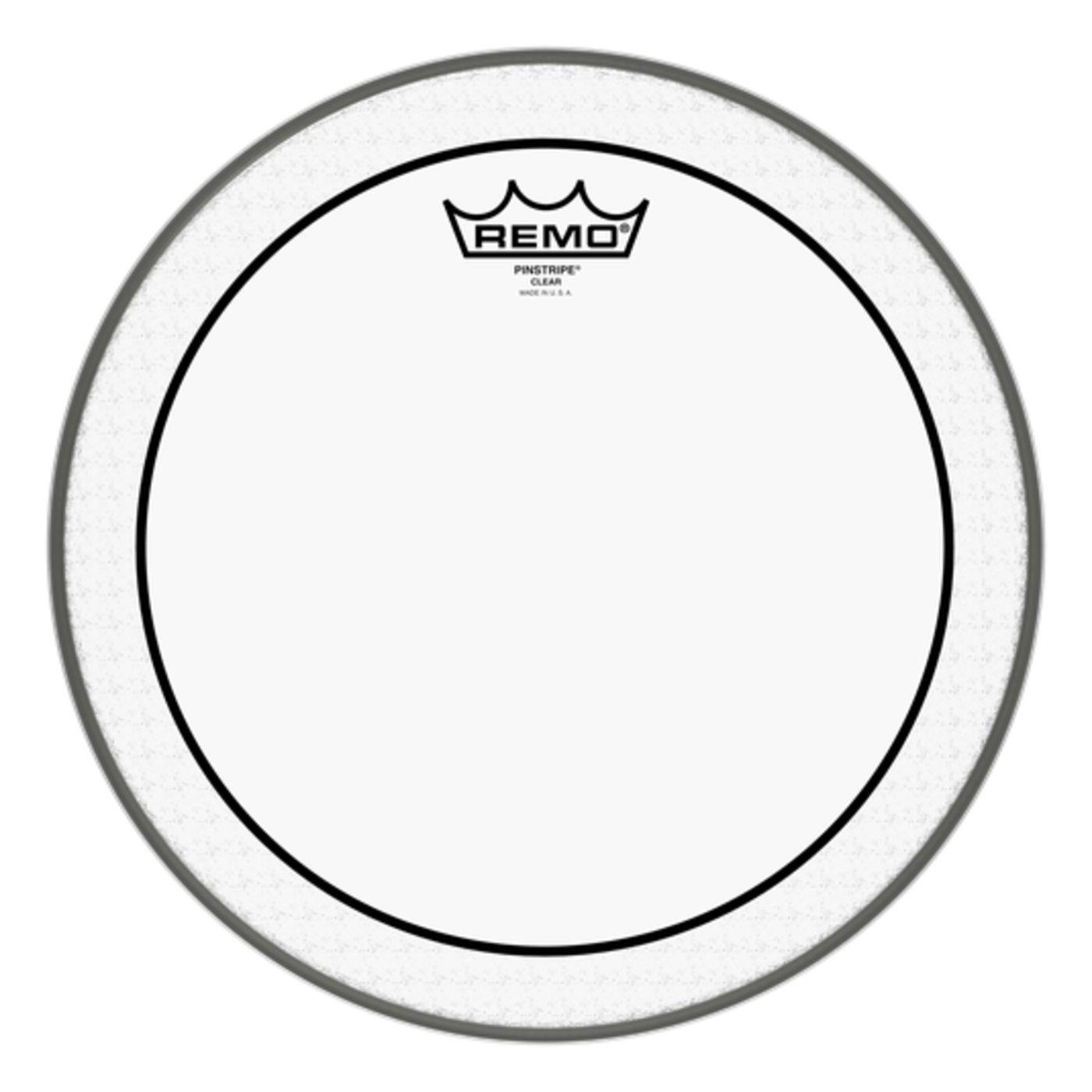 "Pele de Bateria Remo 12"" Pinstripe Clear PS-0312-00 Batedeira"