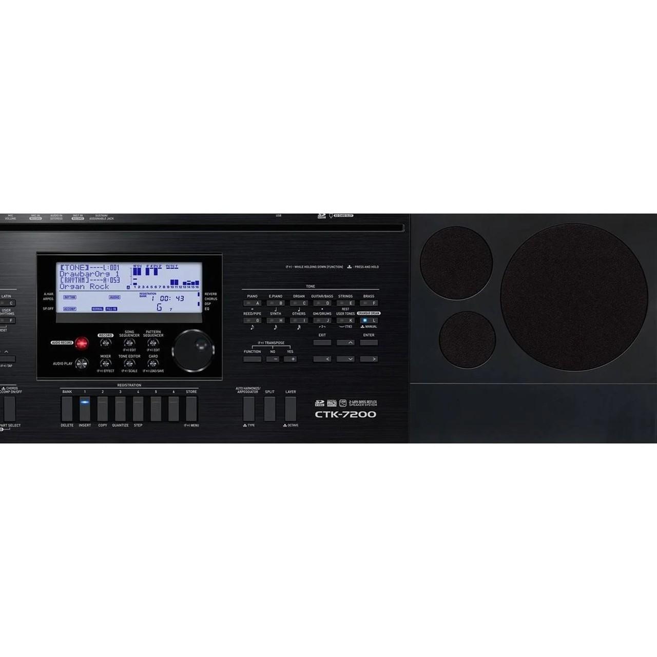 Teclado Casio CTK 7200 61 Teclas com Fonte
