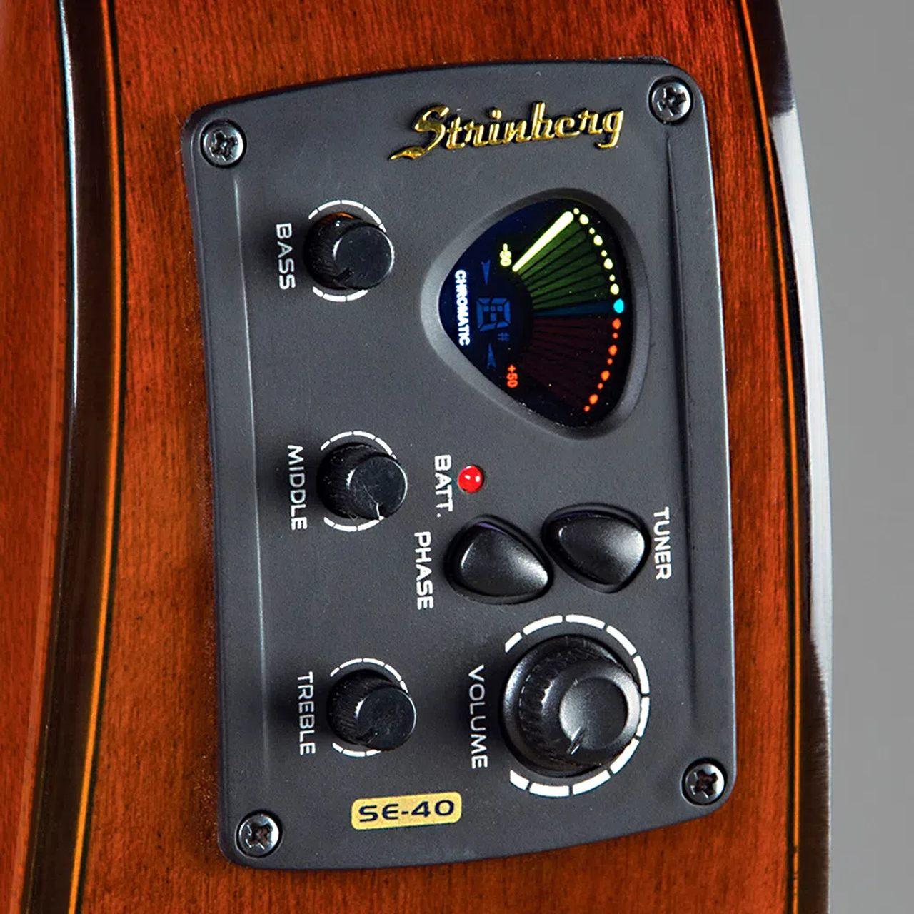 Violão Elétrico Aço Strinberg Folk London LE30C BK Preta