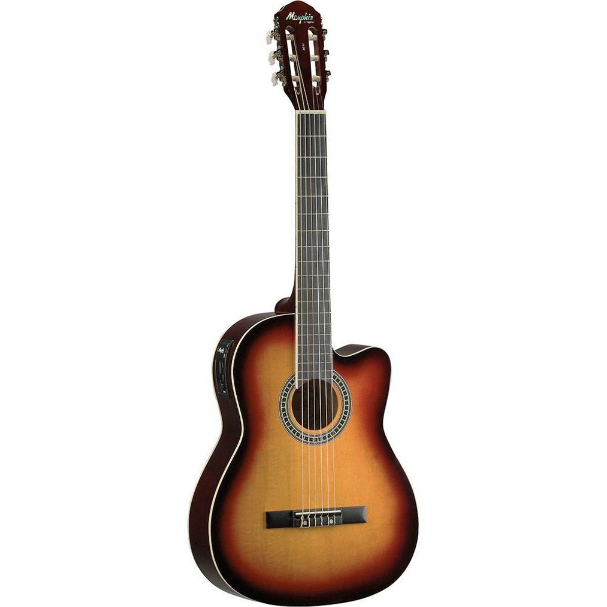 Violão Elétrico Nylon Memphis AC60 Sunburst