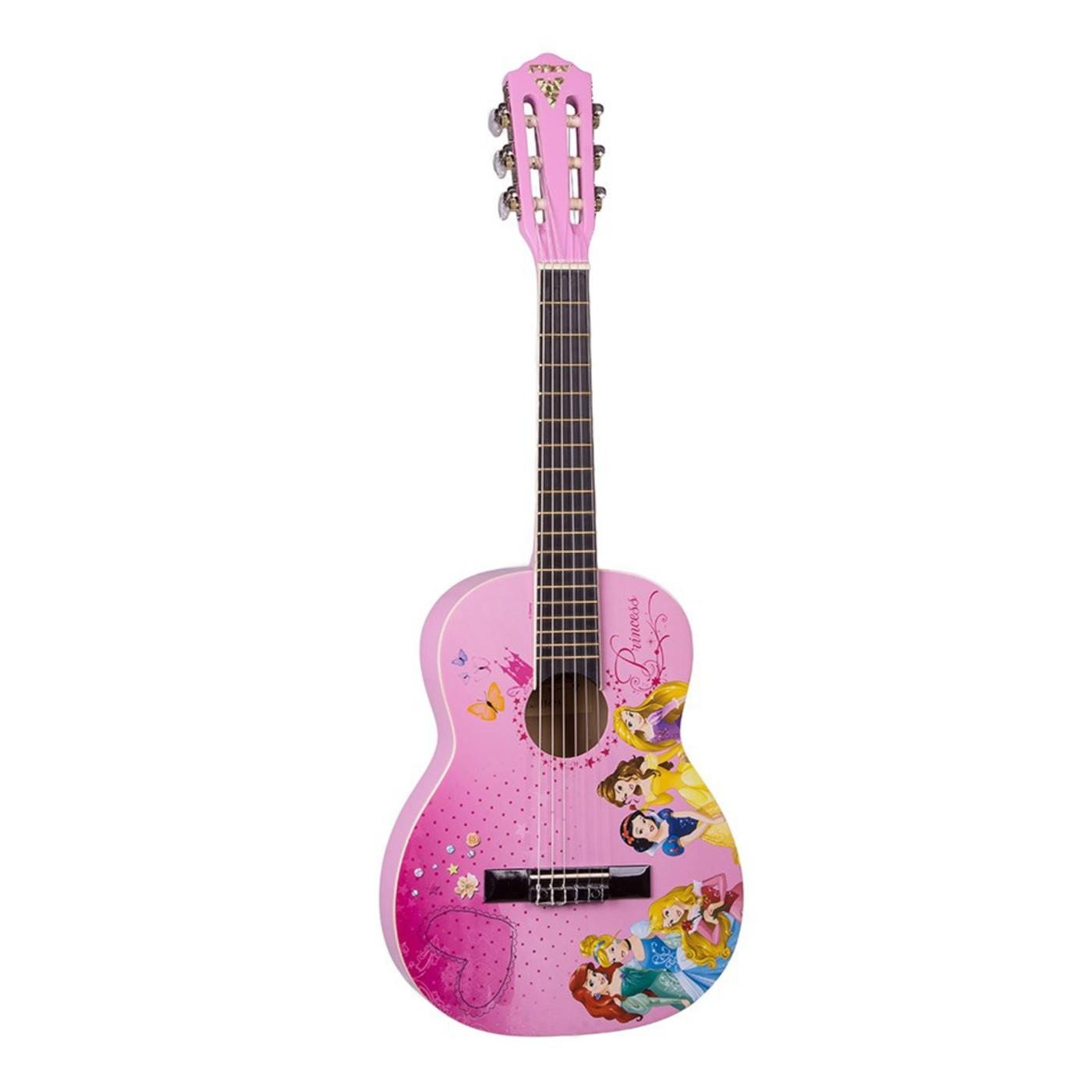 Violão Infantil PHX VIP-3 Princesas Disney Rosa com Capa
