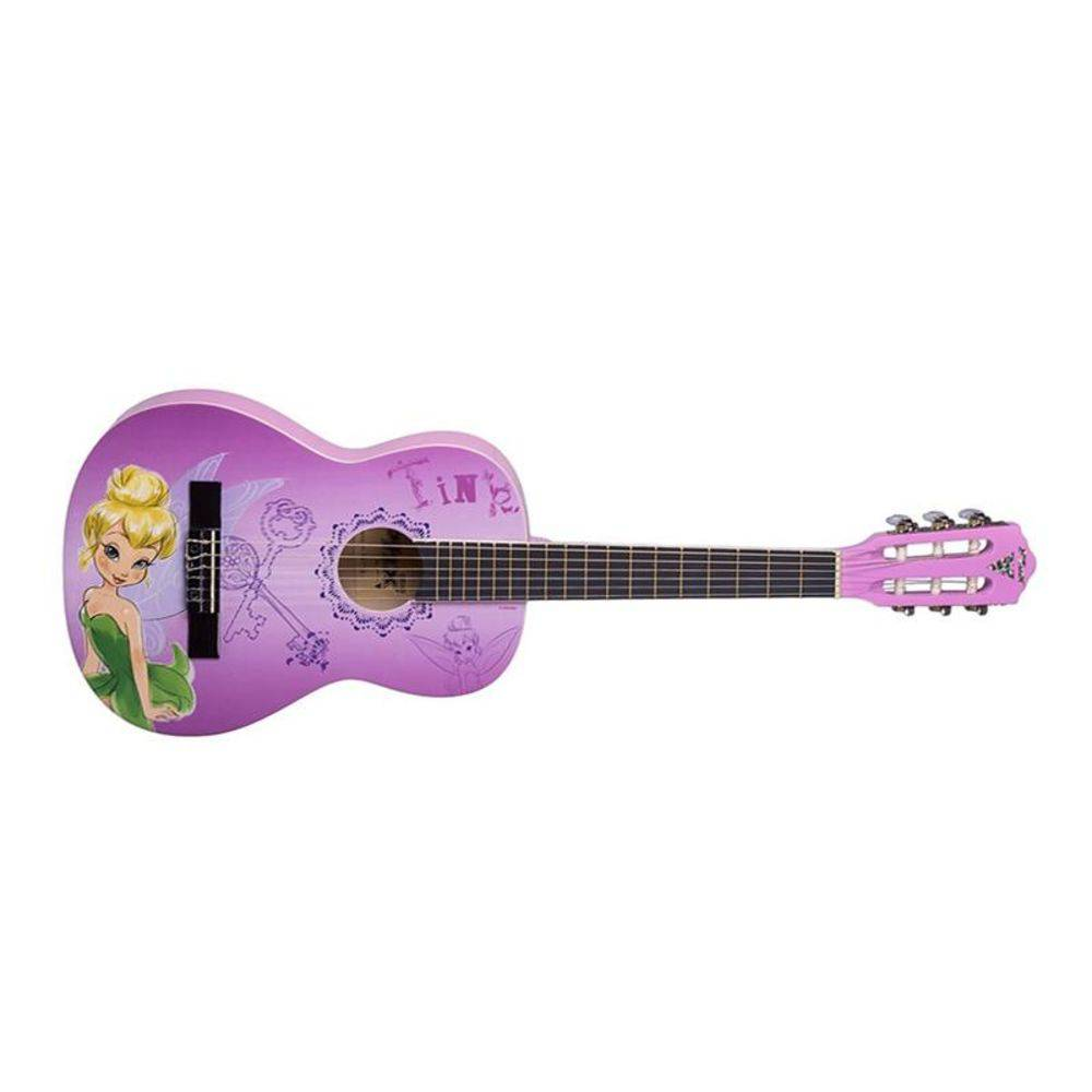 Violão Juvenil 3/4 PHX VJT-3 Disney Tinker Bell Key Phoenix com Capa