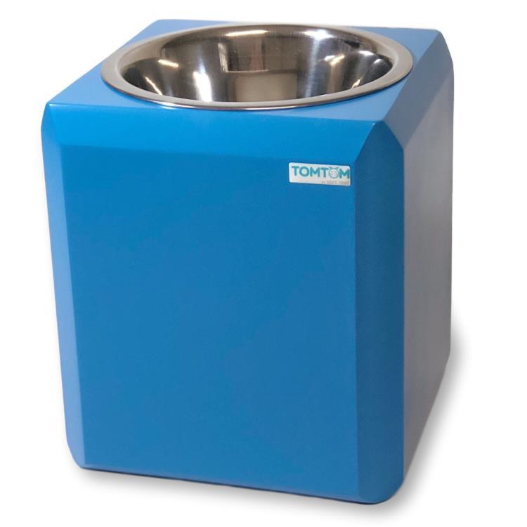 Comedouro Cubo Magico Tomtom G Azul Inox