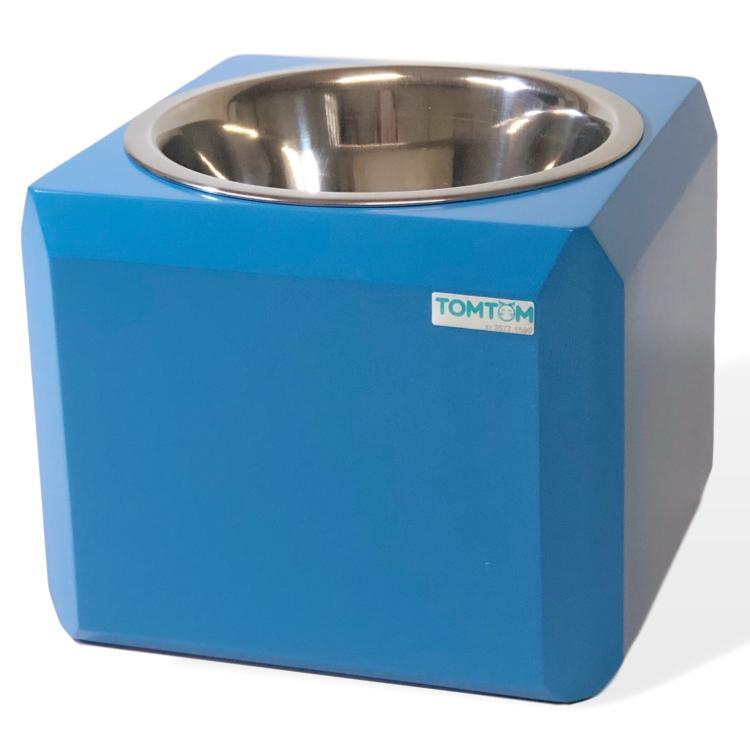 Comedouro Cubo Mágico Tomtom M Azul Inox
