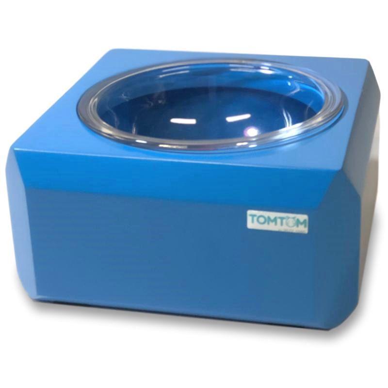 Comedouro Cubo Mágico Tomtom P Azul Vidro