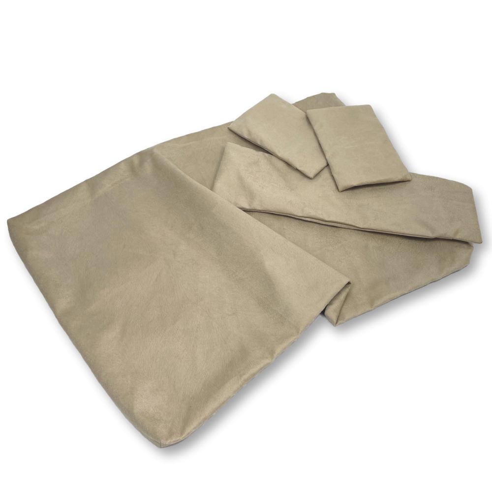 Kit de Capas para Almofadas dos Sofás Tomtom Bege