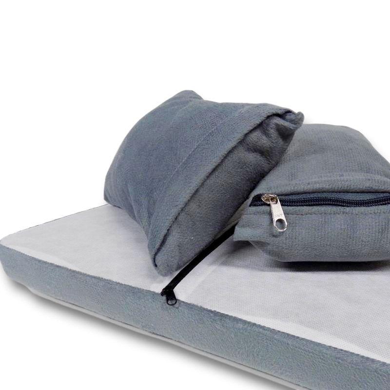 Kit de Capas para Almofadas dos Sofás Tomtom Cinza
