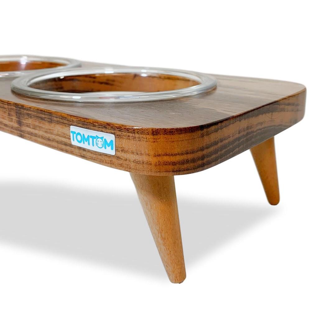 Kit Sofa Rústico Bege Tamanho G + Comedouro Duplo Vidro 500ml