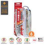Lumínaria de Emergecia Bloco Autônomo LED 6 SuperLEDs
