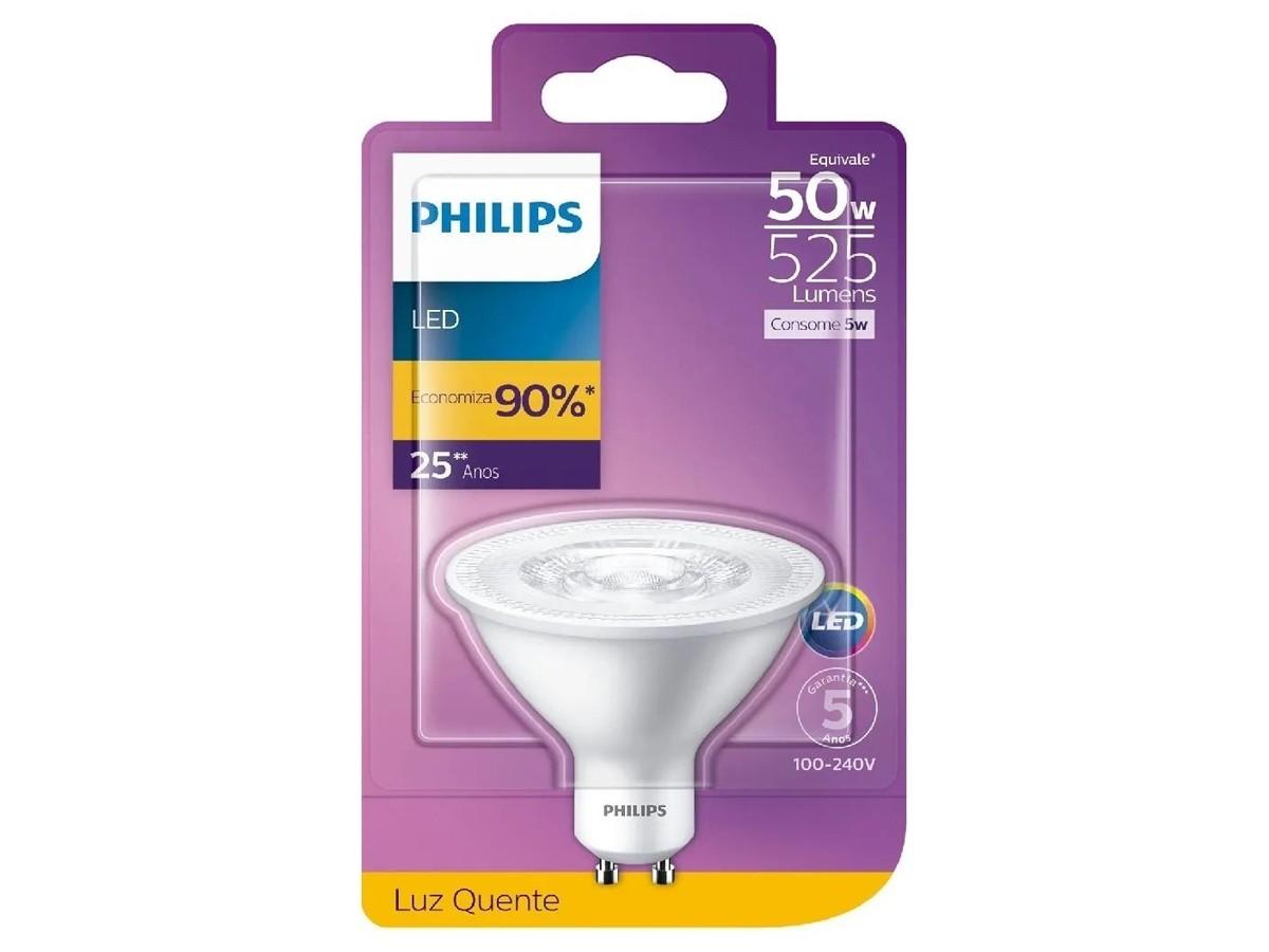 2X Lâmpada Led AR70 5W GU10 2700K 525lm Bivolt - Philips