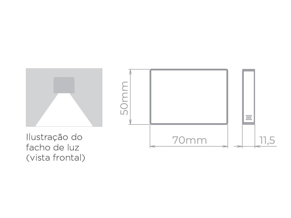 3x Balizador Mini Neu 2 Sobrepor Led 1,5W 3000K 40lm STH8745 STH8746 - Stella