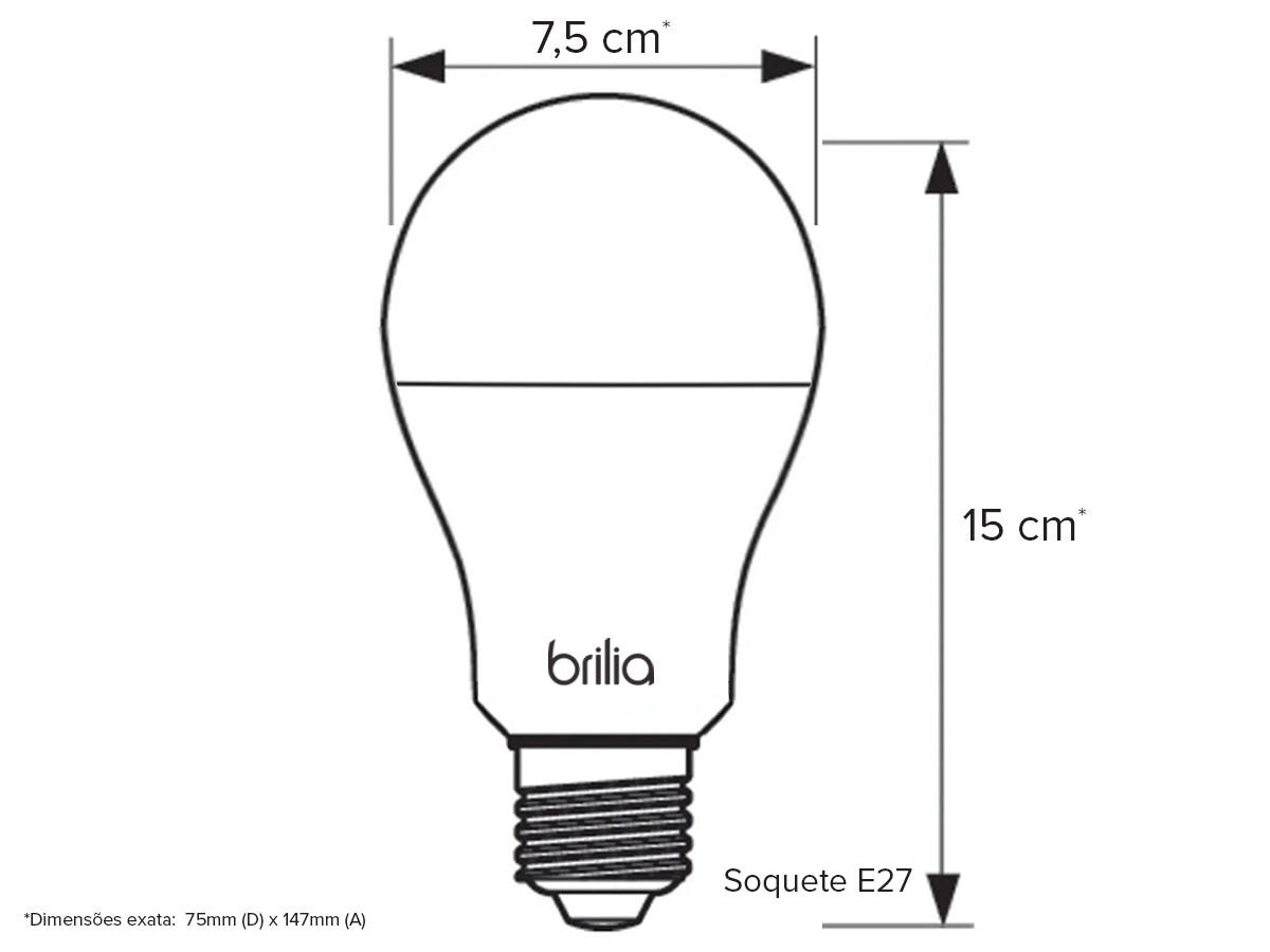 4X Lâmpada Bulbo Led 15w Bivolt 3000k E27 Amarelo - 439807