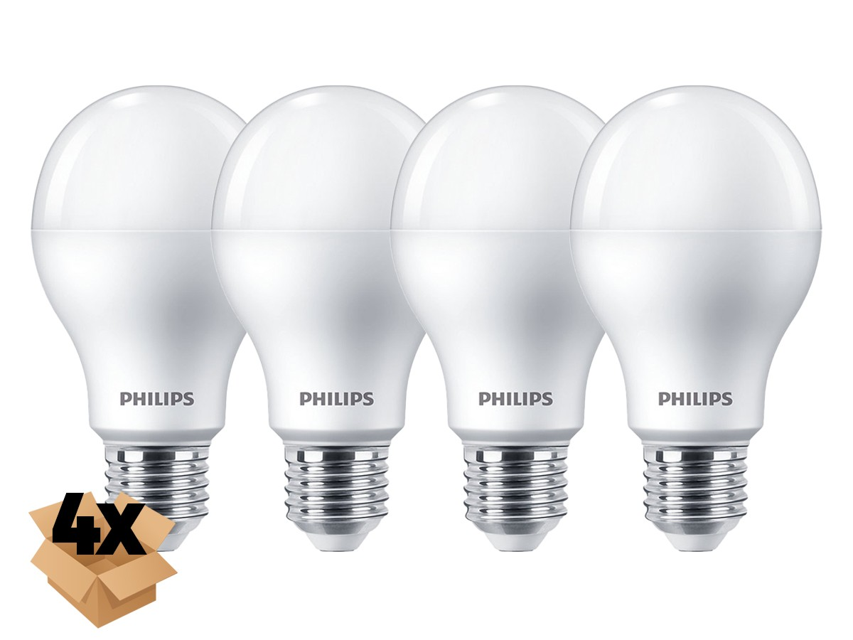 4X Lâmpada Led Bulbo A65 16W 1521lm Bivolt Equivale 100W - Philips