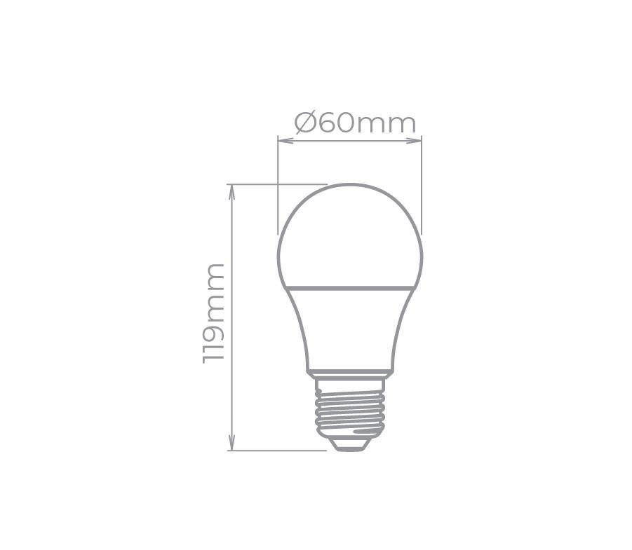 4x Lampada Led Bulbo Dimerizável 9,8w E27 Bivolt 7250/27