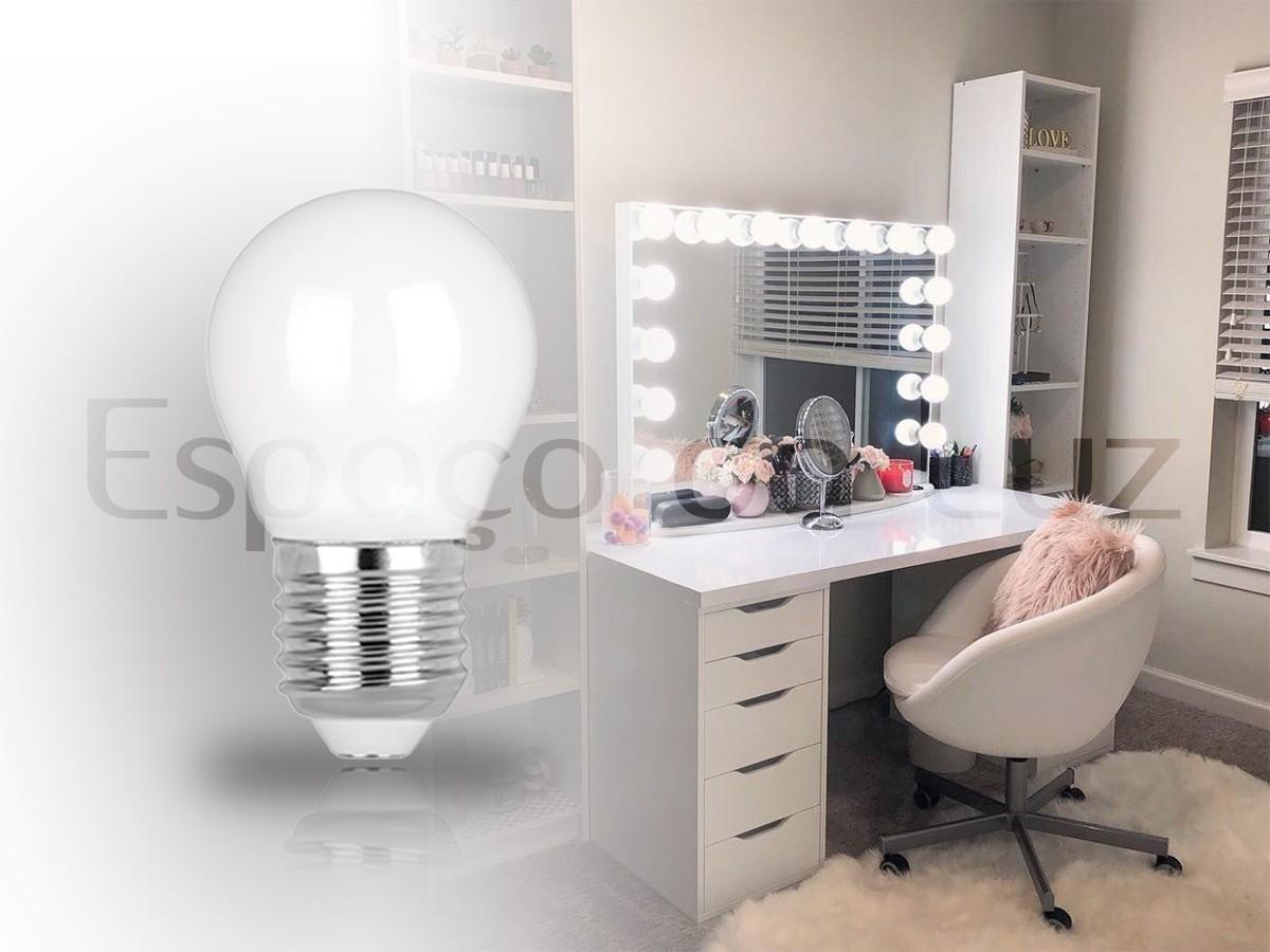 4X Lâmpada Led Mini Milky Filamento 2,5w Camarim Branco Neutro