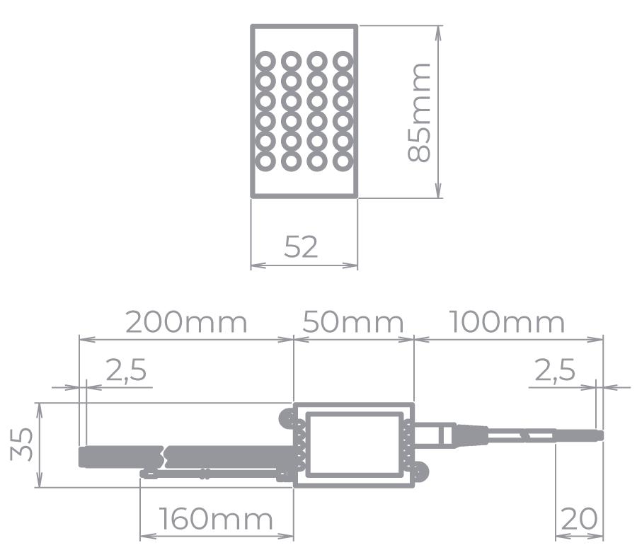 AMPLIFICADOR PARA FITAS RGBW STH6889 - Stella
